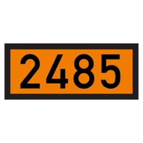 Gefahrgut Aufkleber Kaufen by Gefahrgut Warntafel Mit Un 2485 Aufkleber Aufkleber Shop