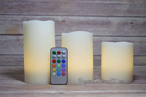 Colored Flameless Candles With Timer by Realistic Wax 12 Color Flameless Led Candle Light W