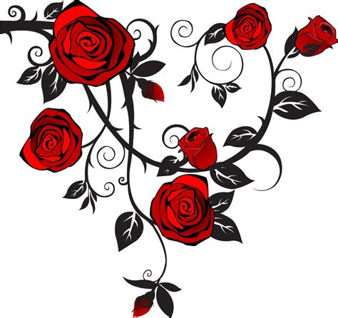 rose and thorn vine tattoos image vector clip royalty free