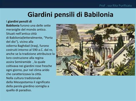 giardini pensili di babilonia le sette meraviglie mondo antico ppt scaricare