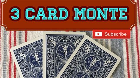 3 Card Monte 3 card monte performance and tutorial