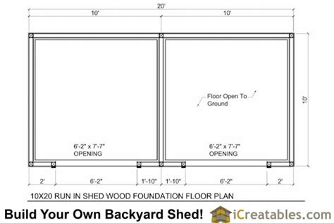 10 X 20 Shed With Floor - 10x20 run in shed plans