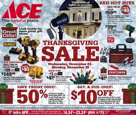 Ace Hardware Gift Card For Sale - black friday 2016 ad leak ace hardware true value hardware shopportunist