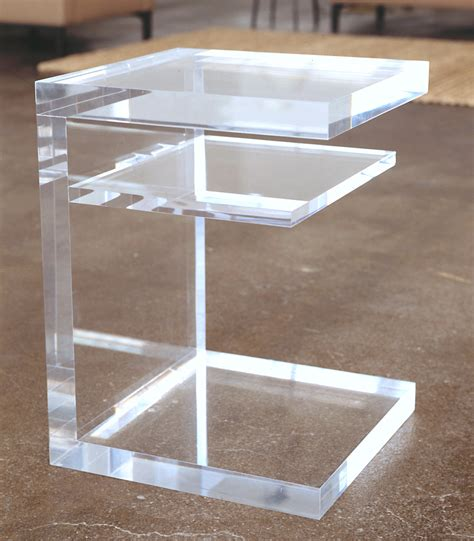 clear perspex side clear side table acrylic designer tables reference