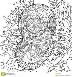 Ers Helmet In Coloring Pages For Adults Stock Vector