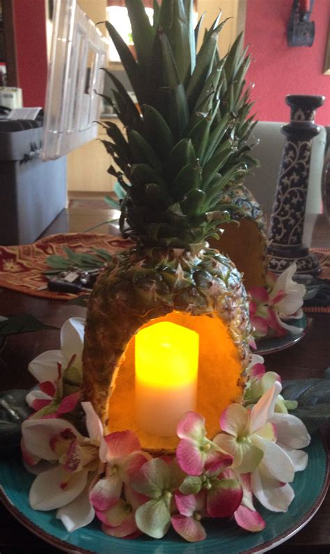 hawaiian themed decorations pineapple centerpiece for luau themed so proud of