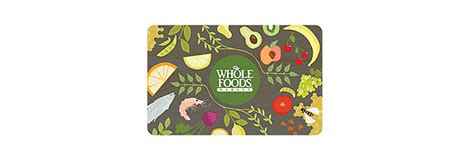 Wholefoods Gift Cards - 50 whole foods market gift card 42