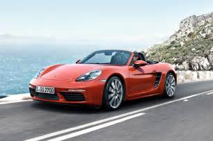 Porsche Boxster Front 2017 Porsche 718 Boxster Revealed With New Turbo Engines