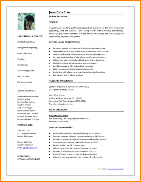 resume templates freshersworld format 11 cv sles for accountant theorynpractice