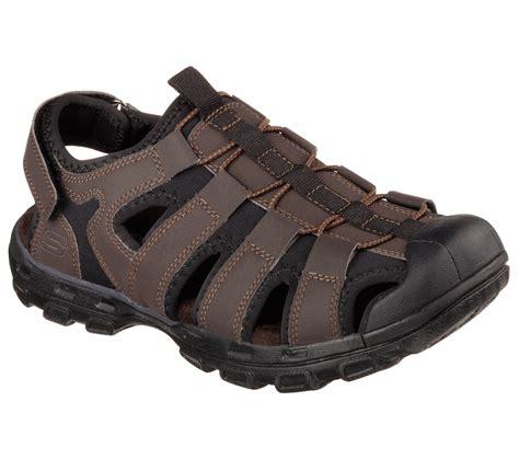 skechers sandals new s skechers gander 64382 brown sport sandals slip