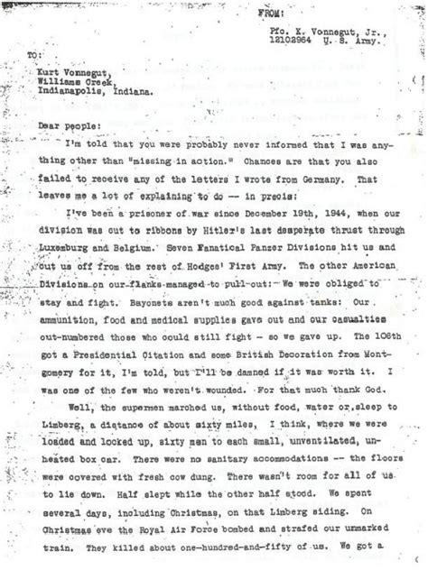 Home Letters kurt vonnegut s letter home jeffmilner