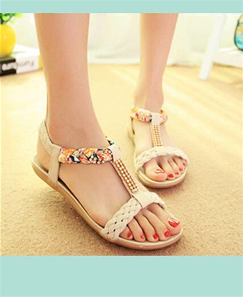 G Ci Flat Shoes Cewek fashion brief comfortable casual flat heel rhinestone flat