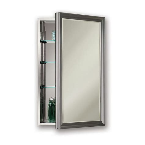 recessed medicine cabinet 15 x 25 shop studio v 15 in x 25 in rectangle surface