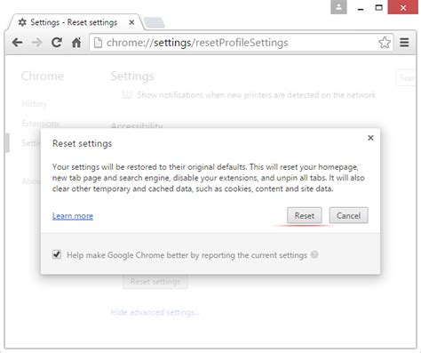 chrome reset microsoft warning alert scam remove fake virus popups