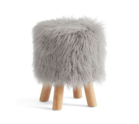 Pottery Barn Faux Fur Stool by Mongolian Faux Fur Stool Pottery Barn