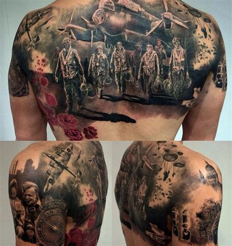 ww2 tattoo on guys back best tattoo design ideas