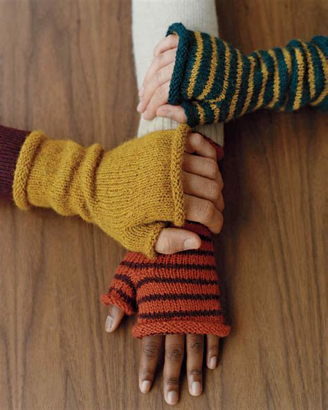 knitting gloves in the fingerless mittens martha stewart