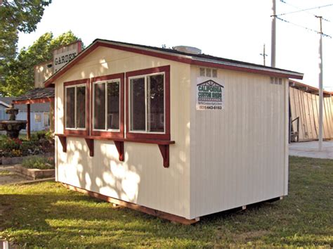 The Shed King by California Custom Sheds 8x14 Peak Roof Package