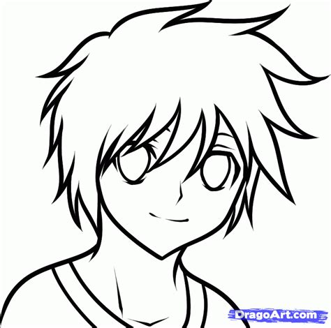 how to draw something easy boys easy draw anime how to draw an anime boy for kids step 6