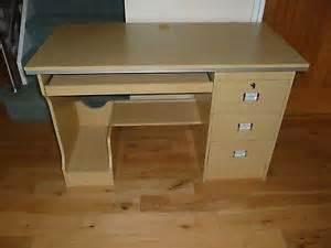 Fully Assembled Computer Desks Beech Effect Computer Desk Workstation Fully Assembled Ebay