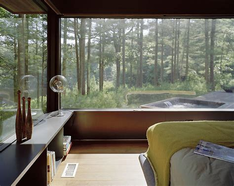 outside bedroom a home blended with nature