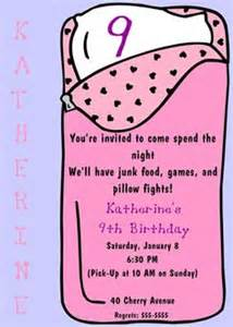 sleepover slumber party pink invitation by