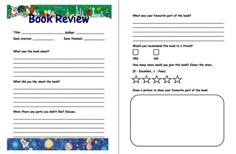 how to write a book template how to write a book review template sletemplatess