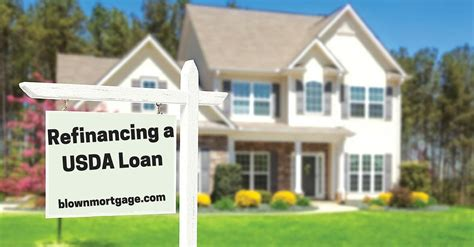 refinancing a usda loan blown mortgage