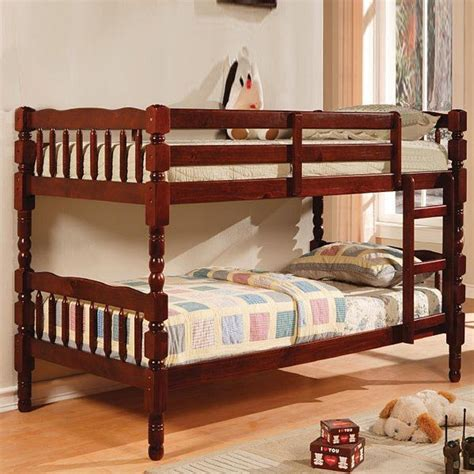cherry bunk beds twin twin bunk bed cherry finish