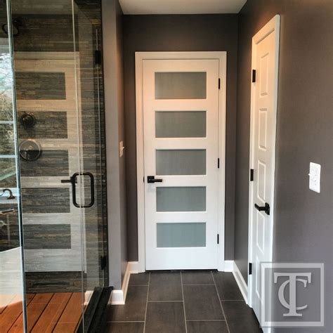 5 Panel Exterior Door Frosted Glass Five Panel Entry Door Rustic Contemporary Master Bathroom Pinterest Frosted