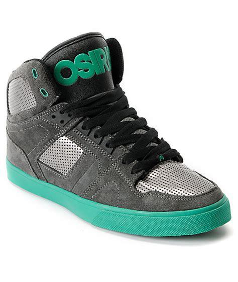 osiris high top shoes for osiris nyc 83 vulc grey green suede high top shoes zumiez
