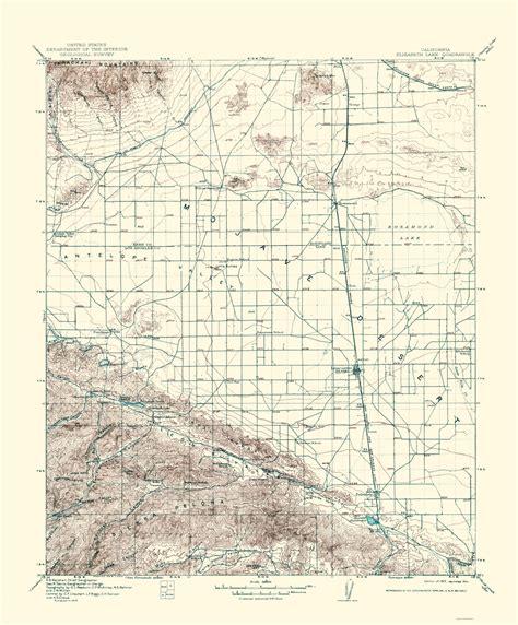 california quadrangle map historical topographical maps elizabeth lake california