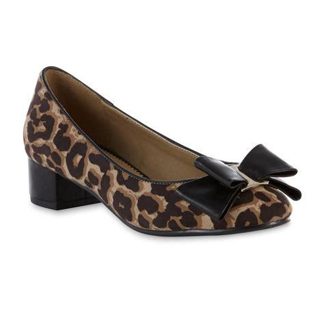 shoes sears covington s boa black leopard shoe