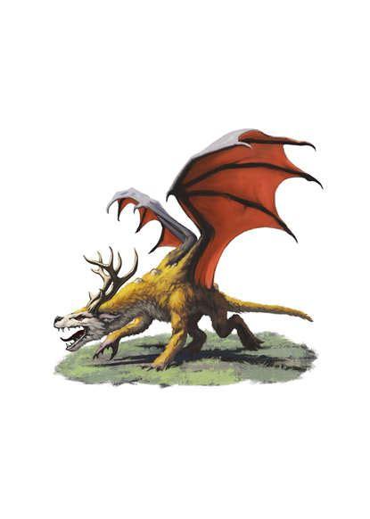 filler spot colour dragon wolf deer rpg stock art