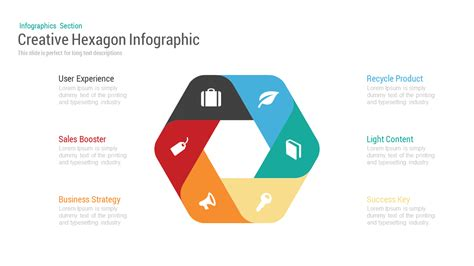 Timeline Infographics Templates For Powerpoint creative hexagon infographic powerpoint keynote template