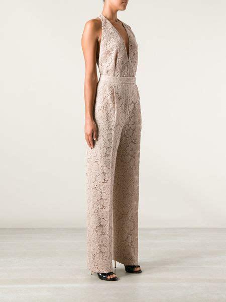 Jsjt217120770144 Jumpsuit Zara Jumpsuit Floral Beige valentino floral lace halterneck jumpsuit in beige neutrals lyst