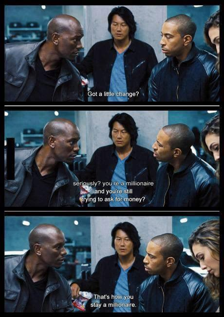 Fast 6 Meme - roman borrows some money from tej in fast and furious 6