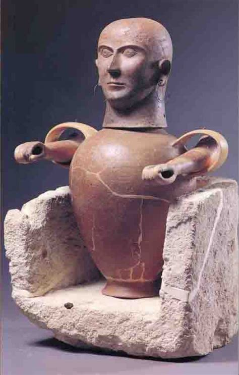 vaso canopo etrusco museo civico archeologico di sarteano a m a t