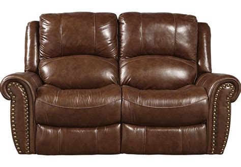 brown loveseats abruzzo brown leather reclining loveseat leather