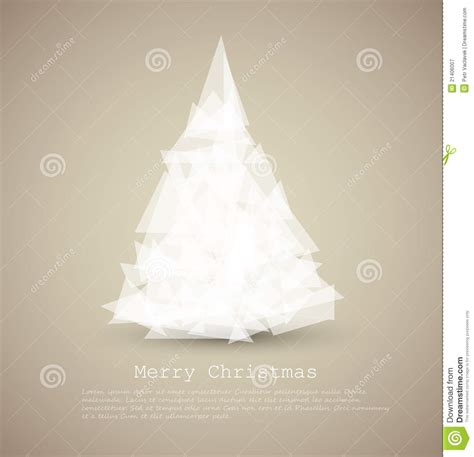 modern card with abstract white christmas tree royalty
