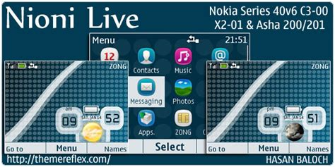 live themes for asha 200 nioni live theme for nokia c3 x2 01 asha 200 201