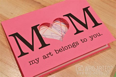 mothers day cards to make in school templates s day cards project