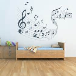 quaver led musical wave wall stickers notes art decal photos music deccals for living room