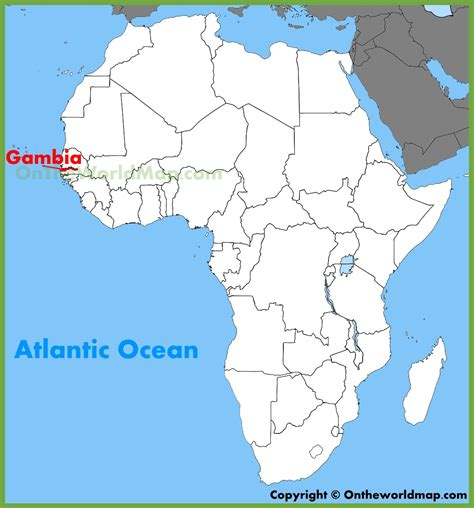 gambia world map gambia location on the africa map