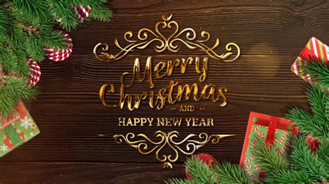 merry christmas  happy  year   fimich videohive