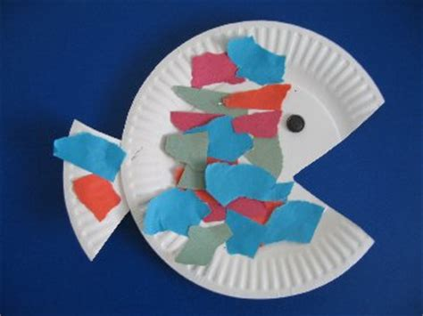 Paper With Preschoolers - preschool paper plate fish