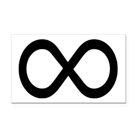 Infinity Math Infinity Symbol Math Notation Rectangle Car Magnet By