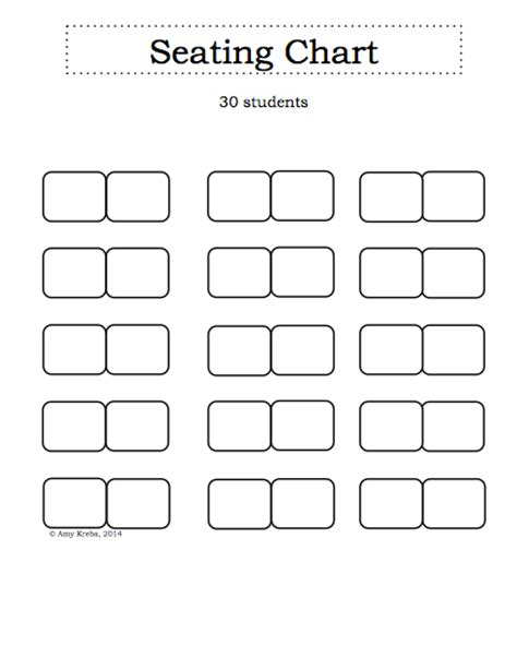 classroom seating chart templates to help you arrange seat