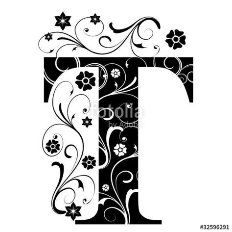 tattoo designs alphabet t quot verzierter buchstabe t quot stockfotos und lizenzfreie