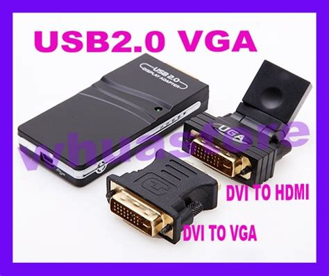 Vga Card 1 Jutaan 1pc free shipping external card 2 0 usb to vga dvi hdmi multi display adapter converter